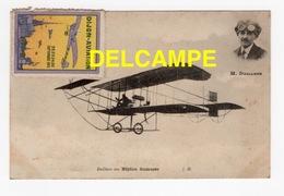 DD / AVIATION / L' AVIATEUR M. DAILLENS SUR BIPLAN SOMMER + VIGNETTE DU MEETING DE DIJON EN 1910 - Airmen, Fliers