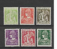 België  N° 335/340  Xx Postfris  Cote 18,50 Euro - Nuevos