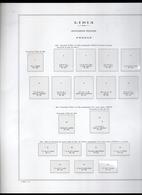 COLONIE FOGLIO ALBUM MARINI FOGLI 22 ANELLI CON TASCHINE LIBIA FEZZAN E GHADAMES LIBYA OTTIME CONDIZIONI - Album & Raccoglitori