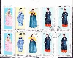 Korea Nord/north - Trachten (MiNr: VB 1600/3) 1977 - Gest Used Obl - Corea Del Nord