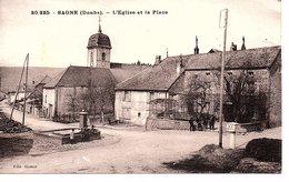CPA Saone (Doubs) L'Eglise Et La Place - Autres Communes