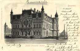 Bucuresci Palatul Principelui Sturdza  RV Beau Timbre 10 Romania - Roumanie
