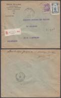 BELGIQUE COB 139+164 SUR LETTRE RECOMMANDE DE LIEGE VERS AUVELAIS 12/10/1920 (BE) DC-5393 - Belgium