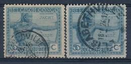 """BELGISCH-KONGO - OBP Nr 112 (2x) - Cachet """"ELISABETHVILLE"""" - (ref. 100) - Congo Belge"""