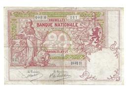 20 Fr - 12 Juni - 1914 - [ 2] 1831-... : Reino De Bélgica
