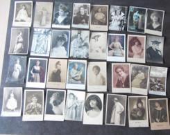 LOT De 75 CPA  ARTISTES  Féminines -  Lire Descriptif - 2 Scans - Cabaret