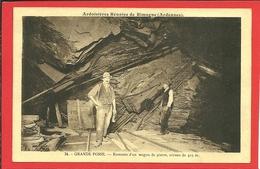 08 Ardennes RIMOGNE Ardoisiéres Réunies GRANDE FOSSE Remonte D Un Wagon De Pierre Niveau 415m - France