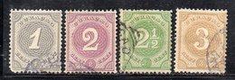 APR1591 - CURACAO 1889, Yvert N. 13+14+15+16  Usati (2380A) . - Curaçao, Antille Olandesi, Aruba