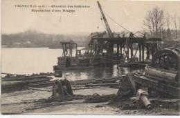 91 VIGNEUX Chantier Des Sablières - Réparation D'une Drague - Vigneux Sur Seine