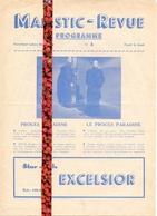 Ciné  Bioscoop Programma Programme Cinema Majestic Revue Gent - Proces Paradine - Programma's