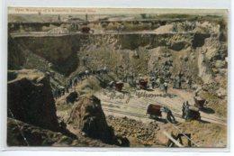 AFRIQUE Du SUD KIMBERLEY  Open Working  Diamonds Mine Ouvriers Travaillant Mine De Diamants    1906 Timbrée   D20  2019 - Afrique Du Sud