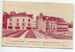 08 CARIGNAN Publicité Graineterie DENAIFFE Et Fils Vue Aggrandissements En 1925 -  Carte De Commande    D20 2019 - France