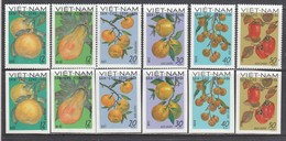 Vietnam Nord 1969 - Fruits, Mi-Nr. 588/93, Perforated+imperforated, MNH** - Vietnam