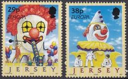 Jersey, 2002, 1020/21, Europa: Zirkus. MNH ** - Jersey