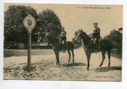 54 A La Frontiere De L' Est Militaires Cavaliers  1913 Timbrée - Phototypie Fiacre Nancy   D20 2019 - France