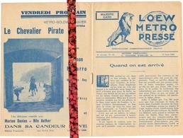 Loew Metro Presse - Ciné  Bioscoop Programma Programme Cinema Majestic  Gent - 21 Juin 1929 - Programma's