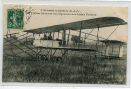 78 TOUSSUS Le NOBLE Aviateur FOURNY Donnant Une Lecon Sur Son Avion Biplan Farman  1912 écrite Timbrée   D20 2019 - Frankreich