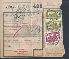 BELGIQUE DOCUMENT SUR TIMBRES CHEMIN DE FER TAMPON TIENEN ( TIRLEMONT ) TAMPON IMPRIMERIE MARC LESSINNES CARNIÈRES : - Railway