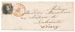 1851 BRIEF MET OCB ?6(GERAND MET GEBUUR) VAN NAMUR NAAR CINEY - AANKOMSTSTEMPEL CINEY ZIE SCAN(S) VL - 1851-1857 Medallones (6/8)