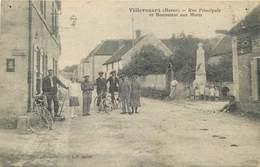 VILLEVENARD-rue Principale Et Monument Aux Morts - Frankrijk