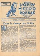 Loew Metro Presse - Ciné  Bioscoop Programma Programme Cinema Majestic  Gent - 30 Nov 1928 - Rose Marie - Programma's