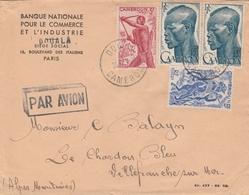 Cameroun Lettre Douala Pour La France 1948 - Cameroun (1915-1959)