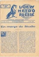 Loew Metro Presse - Ciné  Bioscoop Programma Programme Cinema Majestic  Gent - 15 Mars 1929 - Lon Chaney - Programma's