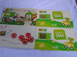 4 X THAILAND   New  SIM  Cards Expired Date  Lot 1 - Tailandia