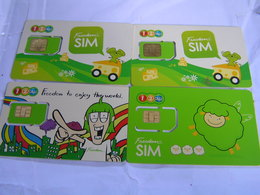 4 X THAILAND   New  SIM  Cards Expired Date  Lot 4 - Tailandia