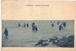 PETITS METIERS D'ANTAN DE LA MER : CAROLLES MANCHE - PÊCHEURS DE CREVETTES - Circulé VIERVILLE SUR MER - Pêche