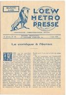 Loew Metro Presse - Ciné  Bioscoop Programma Programme Cinema Majestic  Gent - 7 Juin 1929 - - Programma's