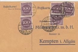 Allemagne Carte Inflation Cöln 1923 - Germany