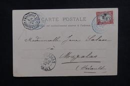 CÔTE DES SOMALIS - Affranchissement De Djibouti Sur Carte Postale Pour La France En 1904, Cachet De Ligne - L 50628 - Côte Française Des Somalis (1894-1967)