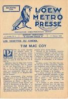Loew Metro Presse - Ciné  Bioscoop Programma Programme Cinema Majestic  Gent - 1 Feb. 1929 - Ben Hur - Programma's