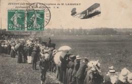 T21-91)  JUVISY SUR ORGE (ESSONNE) L'AEROPLANE DE M. LAMBERT EVOLUANT A PORT -AVIATION - AVION - TRES ANIMEE) - Juvisy-sur-Orge