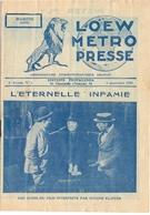 Loew Metro Presse - Ciné  Bioscoop Programma Programme Cinema Majestic  Gent - 6 Sept 1929 - Mister Fly - Programma's
