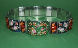 Women Belt - USSR Soviet Union - Handmade - Single Instance 62 Cm - Plexiglass, Metal - Rare Rarität - Ceinture Gürtel - Historische Bekleidung & Wäsche