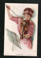 Illustration T.Earl Christy - Violon - Home Sweet Home - Illustrators & Photographers