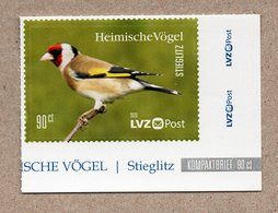 BRD - Privatpost -  LVZ   - Stieglitz (Carduelis Carduelis) - Songbirds & Tree Dwellers