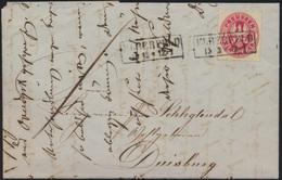 Preussen Brief EF 16 Mit R 2 Elberfeld Nach Duisburg - Prussia