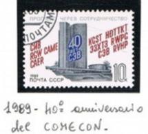 URSS - SG 5966   - 1989  COMECON ANNIVERSARY    - USED° - RIF. CP - Usati