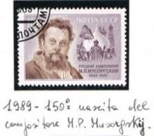 URSS - SG 5974   - 1989  M.P.  MUSSORGSKY,  COMPOSER   - USED° - RIF. CP - Usati