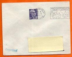 LE PUY EN VELAY  VENEZ A LA 5° FOIRE  1952 Lettre Entière N° MN 60 - Postmark Collection (Covers)