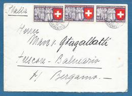 1939 BERN TO ITALY ESPOSIZIONE NAZIONALE SVIZZERA EXPOSITION NATIONALE SUISSE SCHWEIZERISCHE LANDESAUSSTELLUNG - Cartas