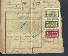 BELGIQUE DOCUMENT SUR TIMBRES CHEMIN DE FER TAMPON TIENEN ( TIRLEMONT ) DESTINATAIRE LISTER & CIE LANDEN : - Railway