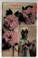 CP32341 -  - Le Langage Des Fleurs – Pivoine - Voyagée - Pin-Ups