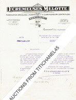 Lettre De 1931 REMICOURT - ECREMEUSES MELOTTE - Fabrication D'écrémeuses Et De Clarificateurs Centrifuges - Belgique