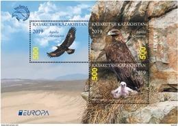Kazakhstan  2019    Birds   Europa - CEPT  S/S  MNH - Aigles & Rapaces Diurnes