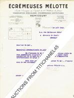 Lettre De REMICOURT 1929 - ECREMEUSES MELOTTE - Fabrication Spécialisée D'écrémeuses Centrifuges - Belgique