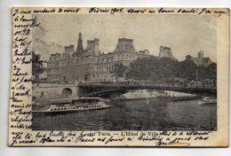 CP33043 - Paris - L'Hôtel De Ville - Voyagée - Autres Monuments, édifices